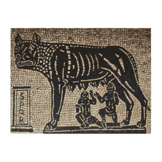 Romulus y Remus Impresiones En Madera