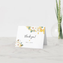 Romy - Floral Honey Bee Thank You Card
