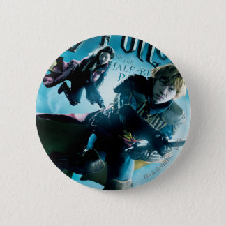 Ron and Ginny On Brooms 1 Pinback Button