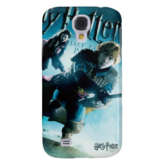 Ron and Ginny On Brooms 1 Samsung Galaxy S4 Case