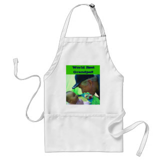 Ron and Natalie at the beach, World Best Grandp... Adult Apron