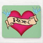 Ron - camisetas y regalos de encargo del tatuaje d alfombrilla de raton