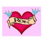 Ron - camisetas y regalos de encargo del tatuaje d postales