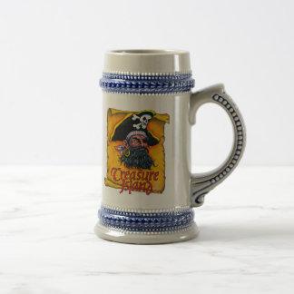 Ron de la isla del tesoro y taza de las bebidas