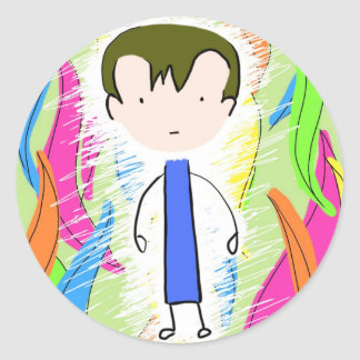 Ron in the Forest Round Stickers