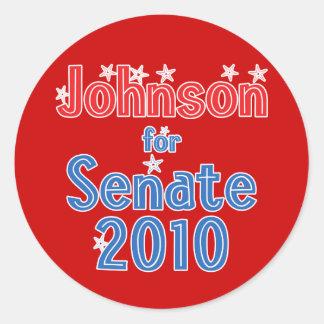 Ron Johnson for Senate 2010 Star Design Classic Round Sticker