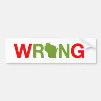 Ron Johnson is Wrong Bumper Sticker