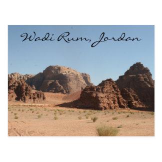 ron Jordania del lecho de un río seco Postal