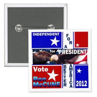 Ron McCune for President 2012 Pinback Button
