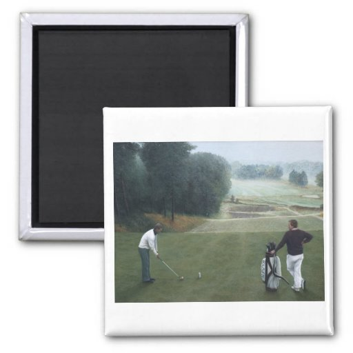 Ron McGill Golfing Oil Painting 1 Magnet