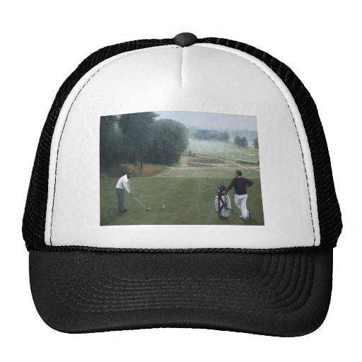 Ron McGill Golfing Oil Painting 1 Mesh Hats