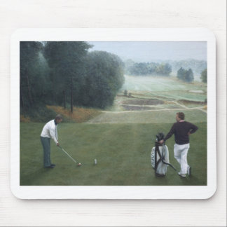 Ron McGill Golfing Oil Painting 1 Mouse Pad