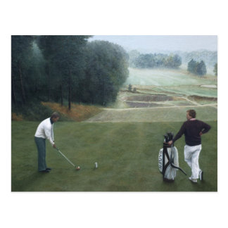 Ron McGill Golfing Oil Painting No.1 Postcard