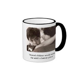 Ron & me, ringer coffee mug