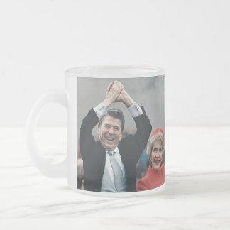 Ron & Nancy Frosted Glass Coffee Mug