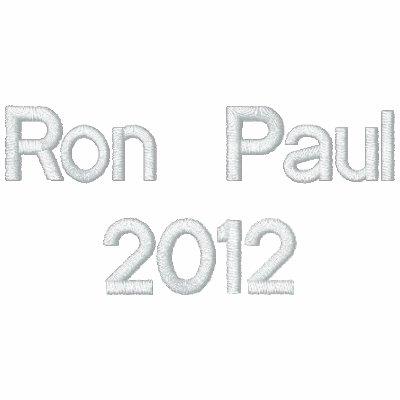 Ron Paul2012 Sudadera Bordada Con Capucha Y Cremallera