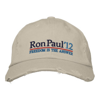 Ron Paul '12 Campaign style Hat Embroidered Hats
