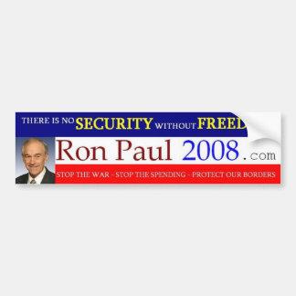 Ron Paul 2008 Bumper Sticker Car Bumper Sticker