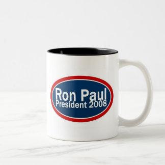 ron paul 2008 Two-Tone coffee mug