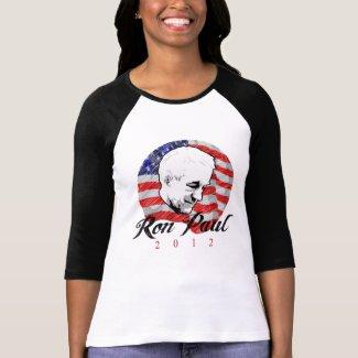Ron Paul 2012 4 colors) Womens Raglan shirt