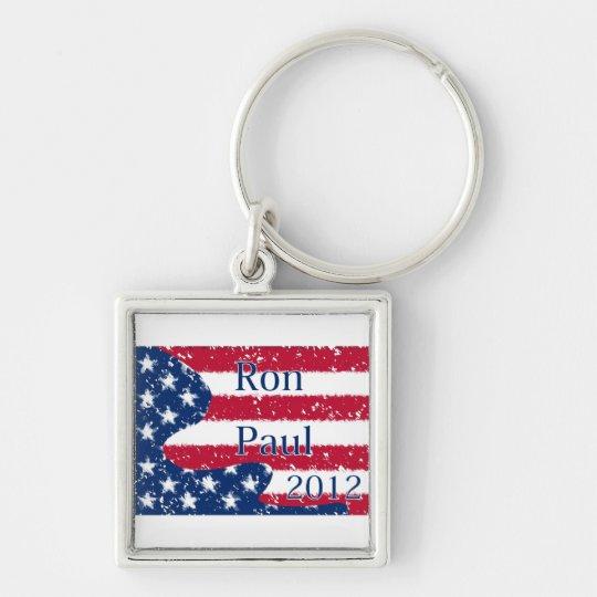 Ron Paul 2012 Altered US Flag Keychain