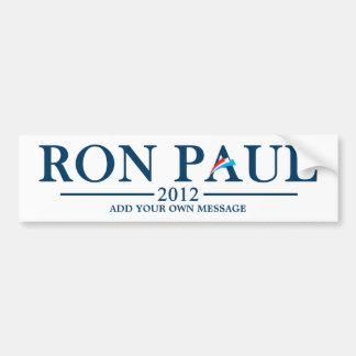 Ron Paul 2012 - Añada su propio texto Pegatina Para Auto