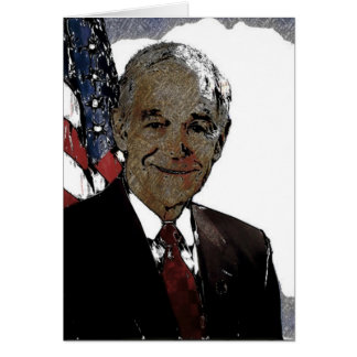 RON PAUL 2012 - Artsy Style Drawing Card