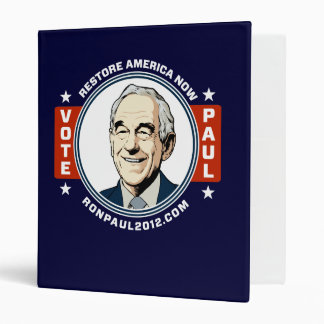 Ron Paul 2012 Avery Binder