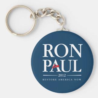 Ron Paul 2012 (azul) Llavero Redondo Tipo Pin