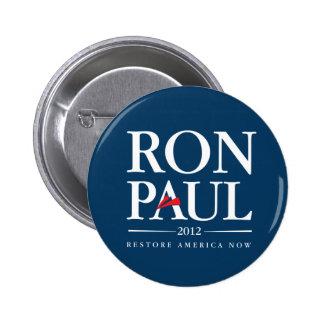 Ron Paul 2012 (azul) Pin Redondo De 2 Pulgadas
