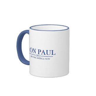 Ron Paul 2012 (azul) Tazas De Café