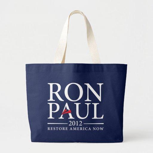 Ron Paul 2012 Bag Jumbo Tote Bag