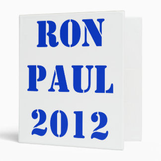 RON PAUL 2012 BINDER