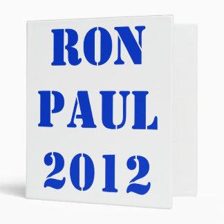 RON PAUL 2012 VINYL BINDER