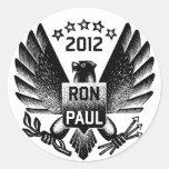 Ron Paul 2012 Black Eagle Sticker