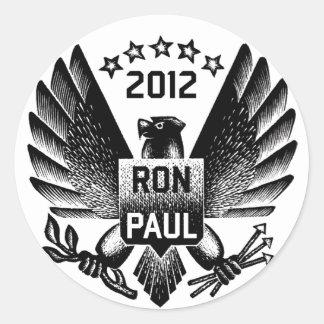 Ron Paul 2012 Black Eagle Classic Round Sticker