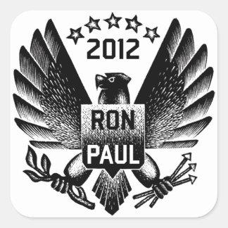 Ron Paul 2012 Black Eagle Square Sticker