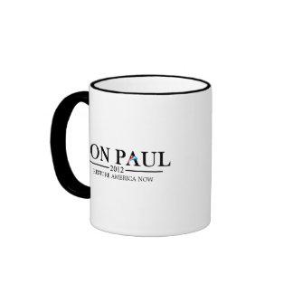 Ron Paul 2012 (black) Ringer Coffee Mug