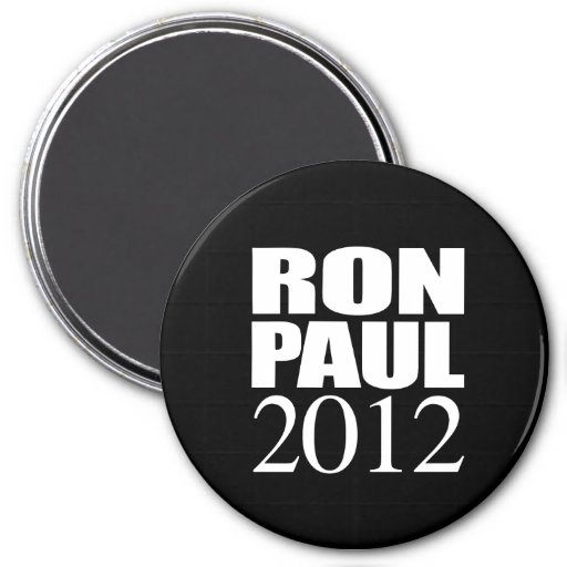 RON PAUL 2012 (blanco) Iman De Nevera