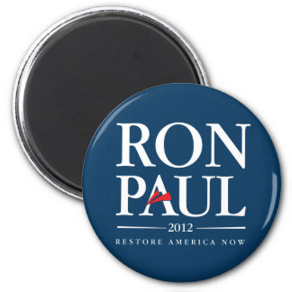 Ron Paul 2012 (Blue) 2 Inch Round Magnet
