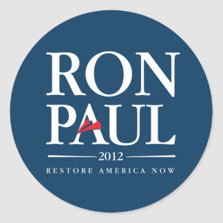 Ron Paul 2012 (Blue) Classic Round Sticker