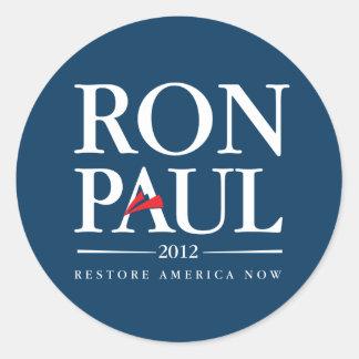Ron Paul 2012 (Blue) Round Sticker