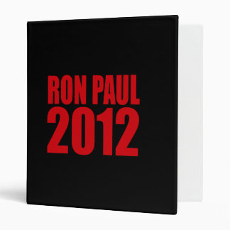 RON PAUL 2012 (Bold) Vinyl Binders