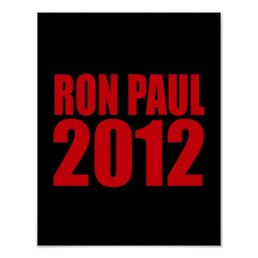 RON PAUL 2012 (Bold) Poster