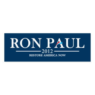 Ron Paul 2012 Bookmark (Dark Blue) Double-Sided Mini Business Cards (Pack Of 20)