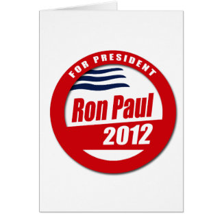 Ron Paul 2012 button Greeting Card