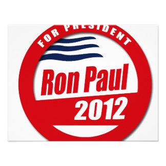 Ron Paul 2012 button Personalized Invitation