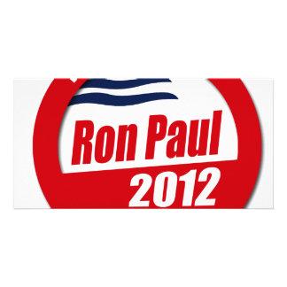 Ron Paul 2012 button Picture Card