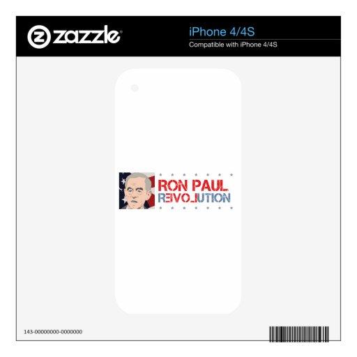 Ron Paul 2012 Calcomanías Para El iPhone 4