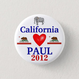 Ron Paul 2012 California Pinback Button